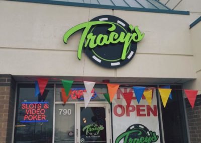 Outside Tracy's